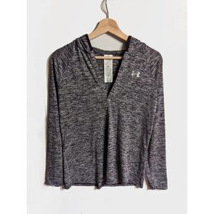 Under Armour   Long Sleeve Hooded Henley in purple